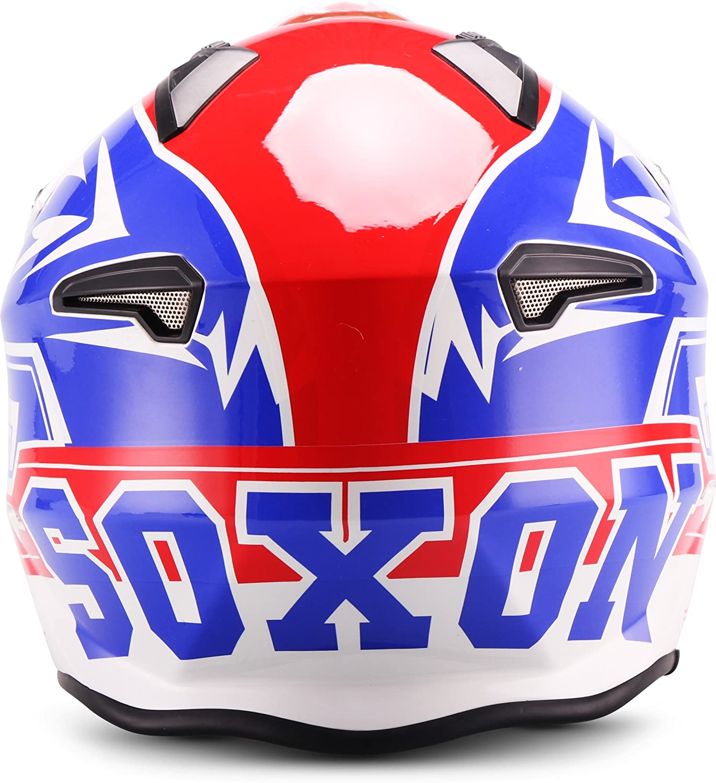 XS Soxon SR-400 Casque Moto Bleu 53-54cm