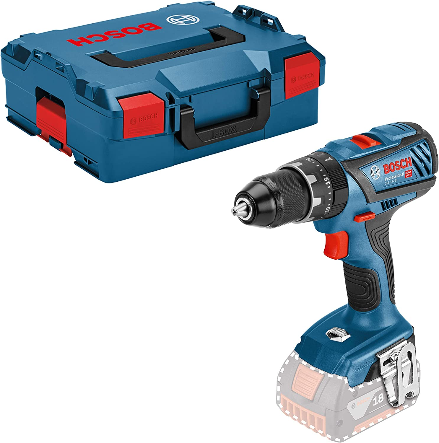 Bosch Professional 06019h4008 Gsb 18v 28 Drills Screwdrivers Blue Amazon Co Uk Diy Tools