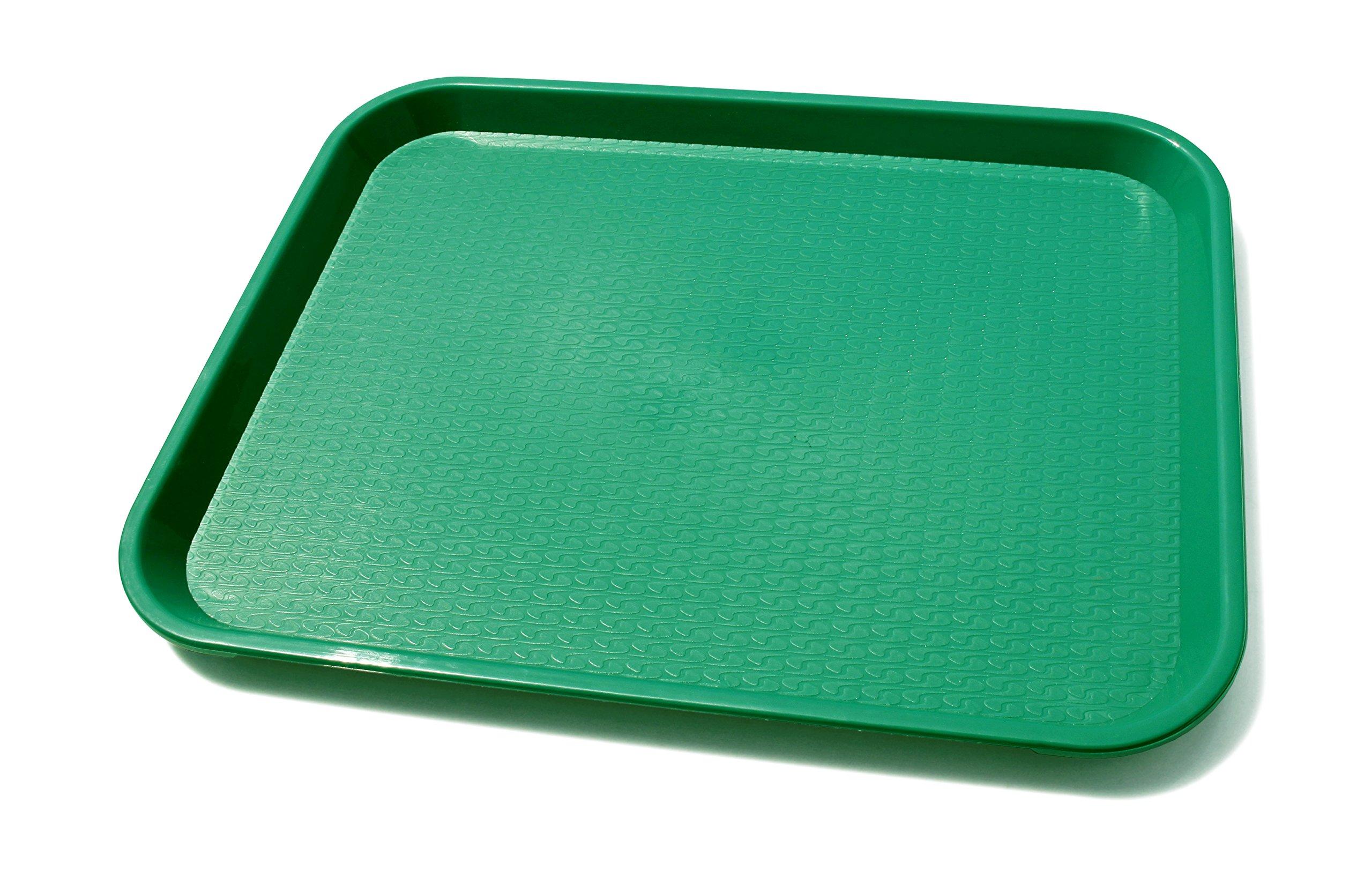 New Star Foodservice 24784 Green Plastic Fast Food Tray, 14 by 18-Inch, Set of 12 by New Star Foodservice (Image #1)