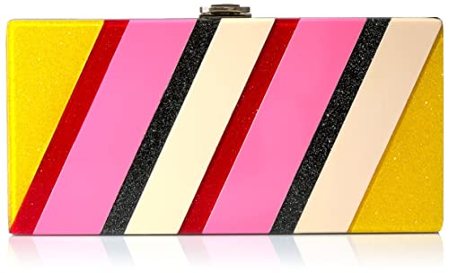 MILLY Stripe Clutch