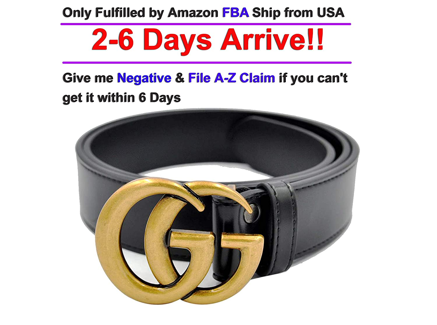 Luxury Designer GG Slim Belt for Women Or Men Unisex [3.8CM width]