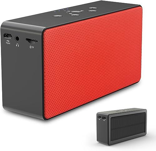 ZeroLemon SolarSound Solar-Powered Bluetooth 4.0 Speaker