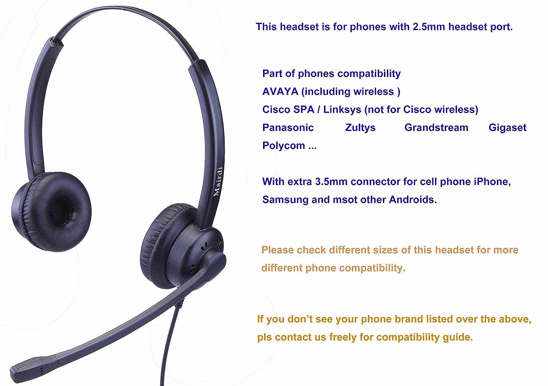 2,5mm Telefon Headset Kopfhörer 2 5 mm klinke Call Center Headset ...