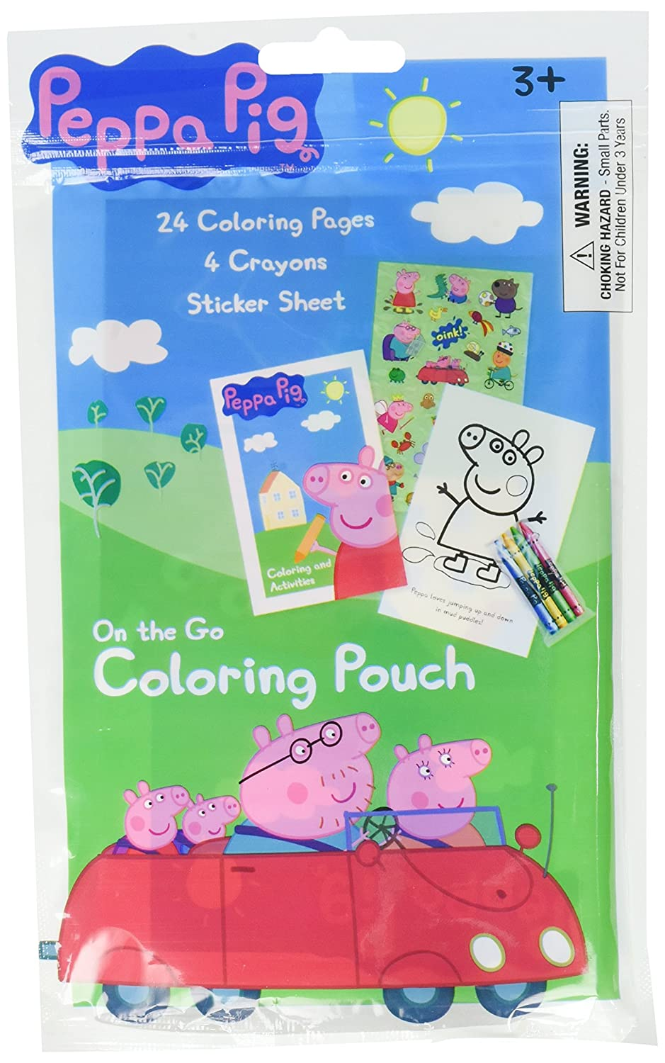 Amazon.com: Peppa Pig Coloring Pouch Favor (Each): Toys & Games