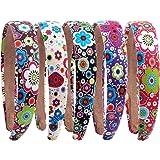 e70148877e2e Candygirl Lot de 10 Pieces 10 mm Enfant Fille Floral Serre-tête Recouvert  Coton Bandeau