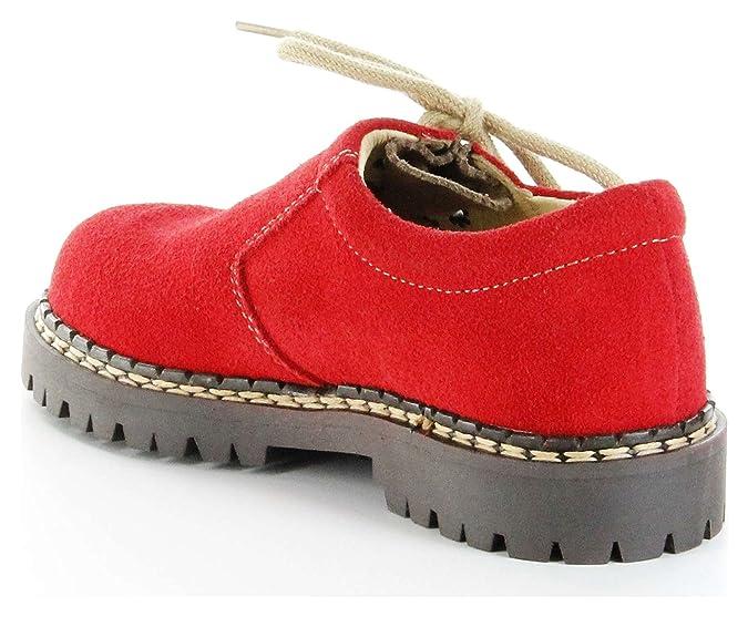 Richter Kinder Halbschuhe Rot Trachten Haferlschuhe Mädchen 7221-963-4301 Chili, Größe:27, Farbe:Rot