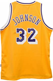Magic Johnson Los Angeles Lakers Gold Adidas Soulman Jersey