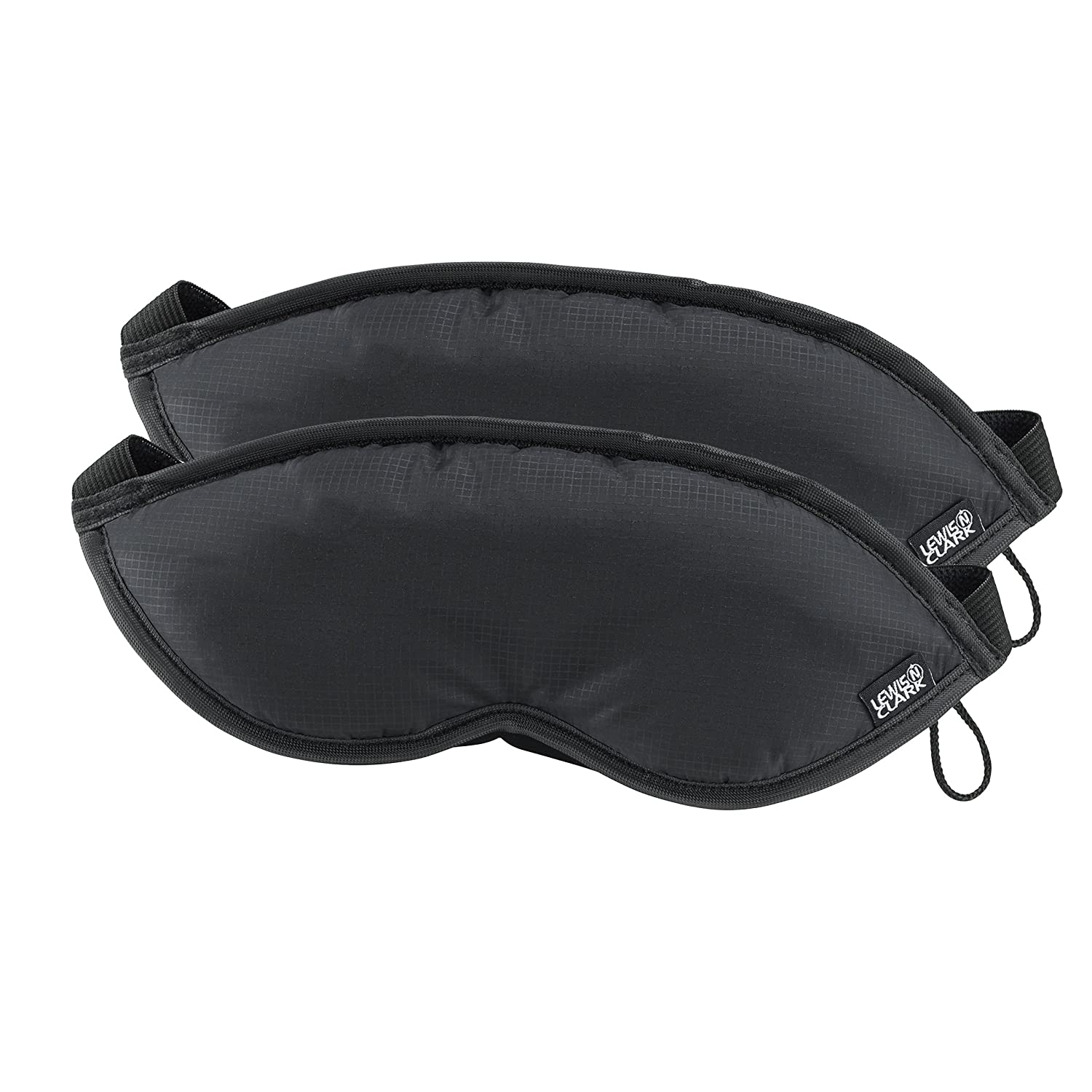 Comfort Eye Mask With Adjustable Straps Blocks Out All Light, Black, One Size Lewis N. Clark 505blkx2