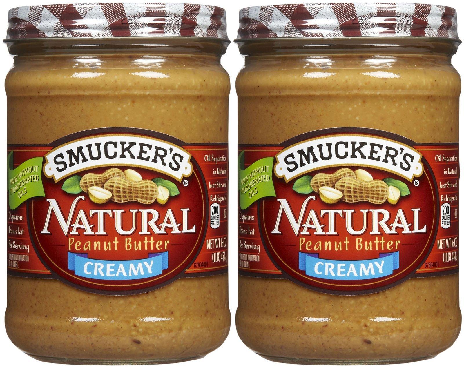 Smucker's Creamy Natural Peanut Butter - 16 oz - 2 pk