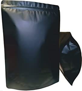 50 Pack Smell Proof Bags Mylar Bags Ziplock Stand Up 3.8 Quarts (9X13 Inch) XL Resealable Matte Black Airtight Zipper Pouches Food Storage Bags Aluminum Foil Bags (50, 9x13)