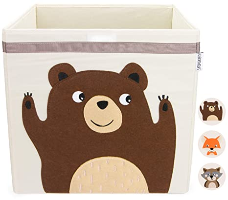 GLÜCKSWOLKE Aufbewahrungskiste für Kinderzimmer I Spielzeugbox mit ...