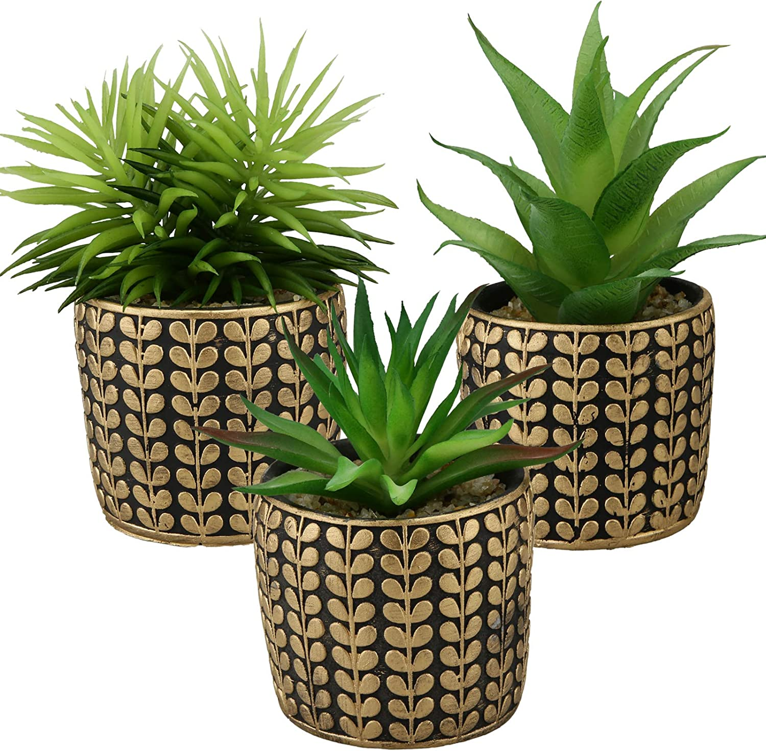 3 Pack Small Artificial Succulents Plants in Ceramics Pots for Desk Decor,Fake Succulents Potted with Handcrafted Clay,Faux Plant for Bathroom Indoor Shelf, Living Room,Office,Bedroom,home decorations