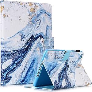iPad Mini Case, Mini 4 Mini 5 Case Mini 2 Mini 3 FANCITY PU Leather Smart Wake Sleep Case with Kickstand Card Slot Pen Holder for iPad Mini 1/2/3/4/5, Blue Sand