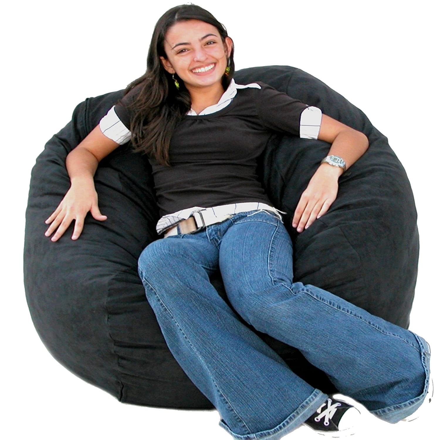 Amazon Cozy Sack 3 Feet Bean Bag Chair Medium Black Kitchen Dining