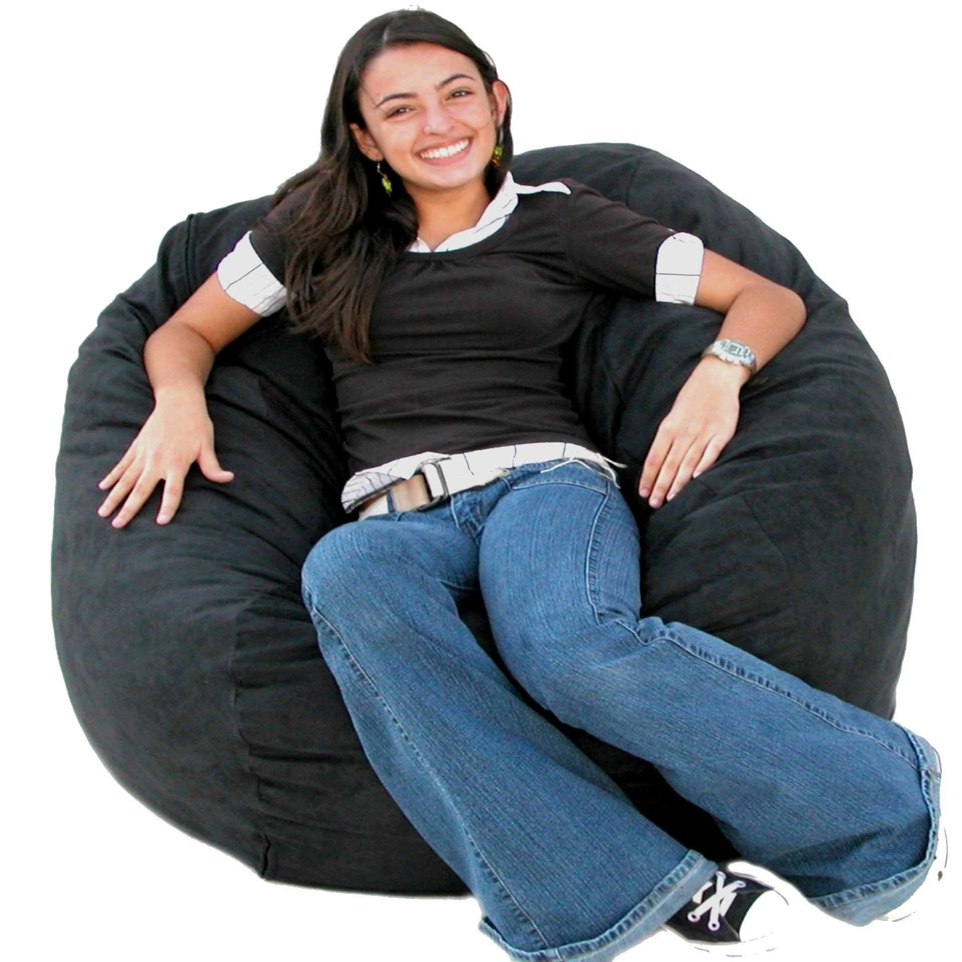 Cozy Sack 3-Feet Bean Bag Chair, Medium, Black