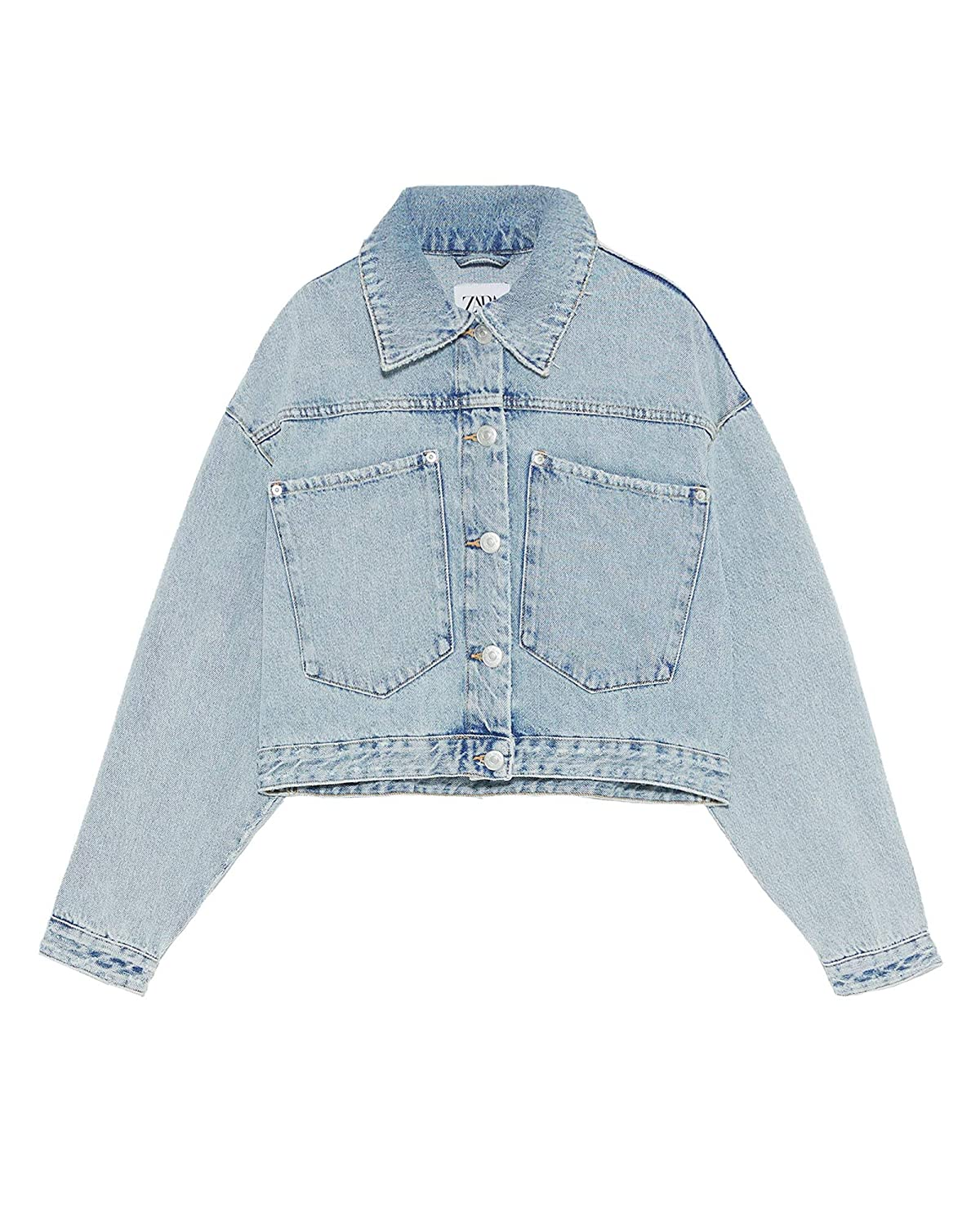 f8aea88e Zara Women Cropped Denim Jacket 4365/019 at Amazon Women's Coats Shop