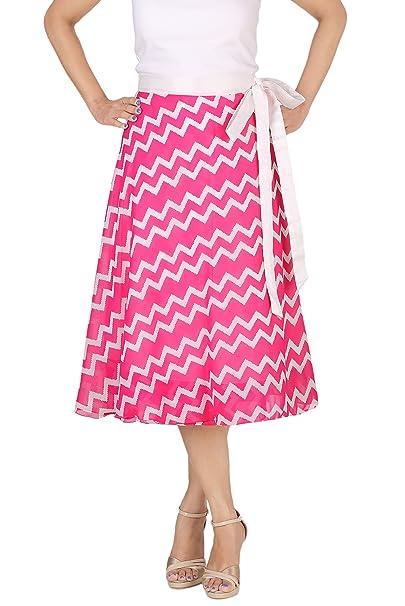 a0dff5e1a8909 DeeVineeTi Women's Georgette Chevron Beach Wrap-Around Skirt (WA000170, Pink,  Freesize): Amazon.in: Clothing & Accessories
