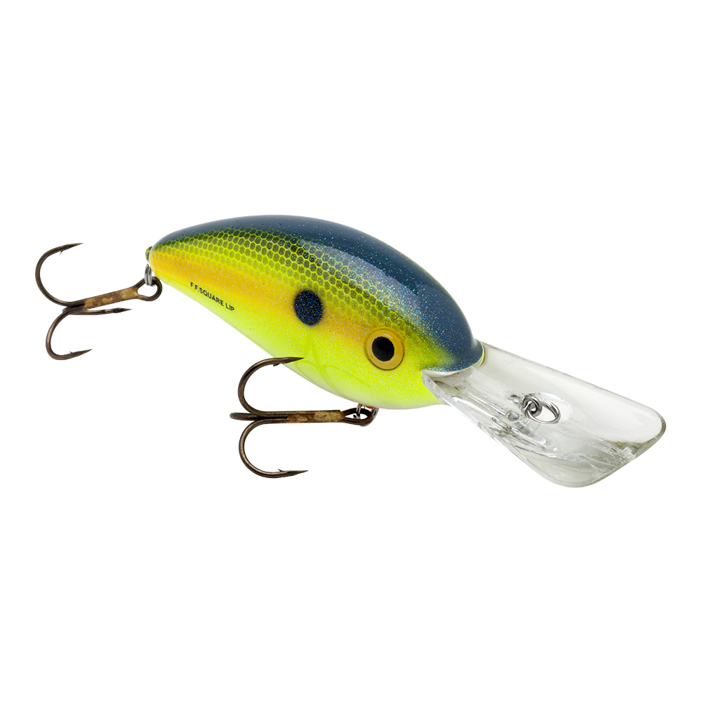 Bomber fat free square lip lures pearl shad for Amazon fishing lures
