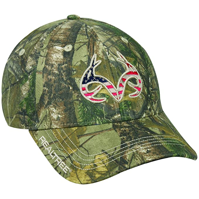 02b6deeaa Amazon.com  Realtree American Flag Antlers and USA on Back Cap Hat ...