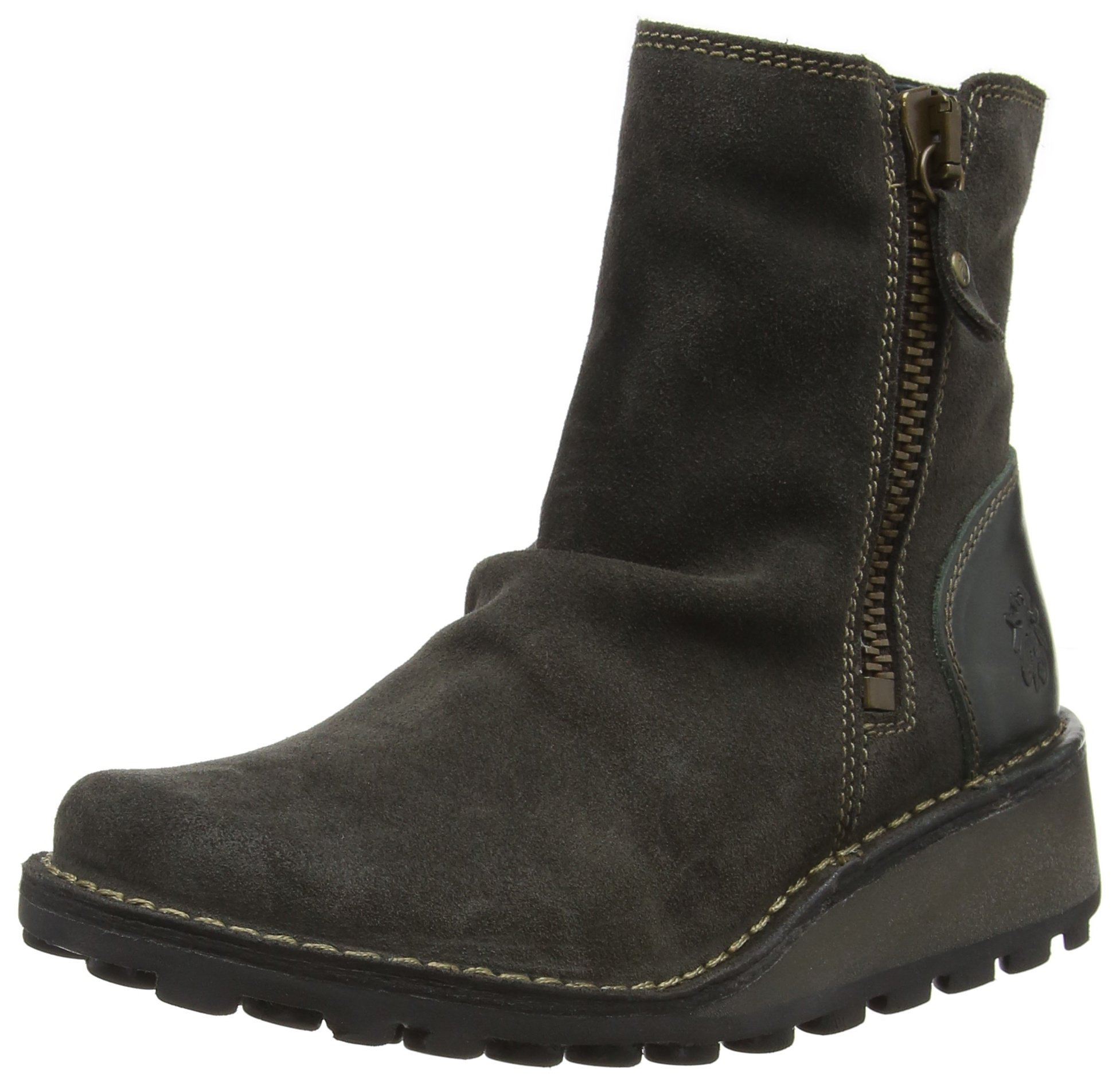 FLY London Women's MONG944FLY Ankle Boot, Diesel Oil Suede/Rug, 39 M EU (8-8.5 US)