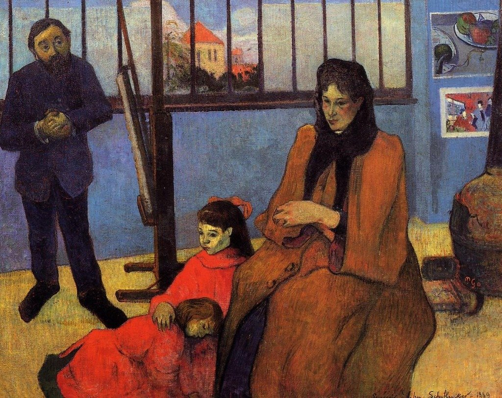 Gauguin Paul The Schuffenecker Family 100% Hand Painted Oil Paintings Reproductions 12X16 Inch