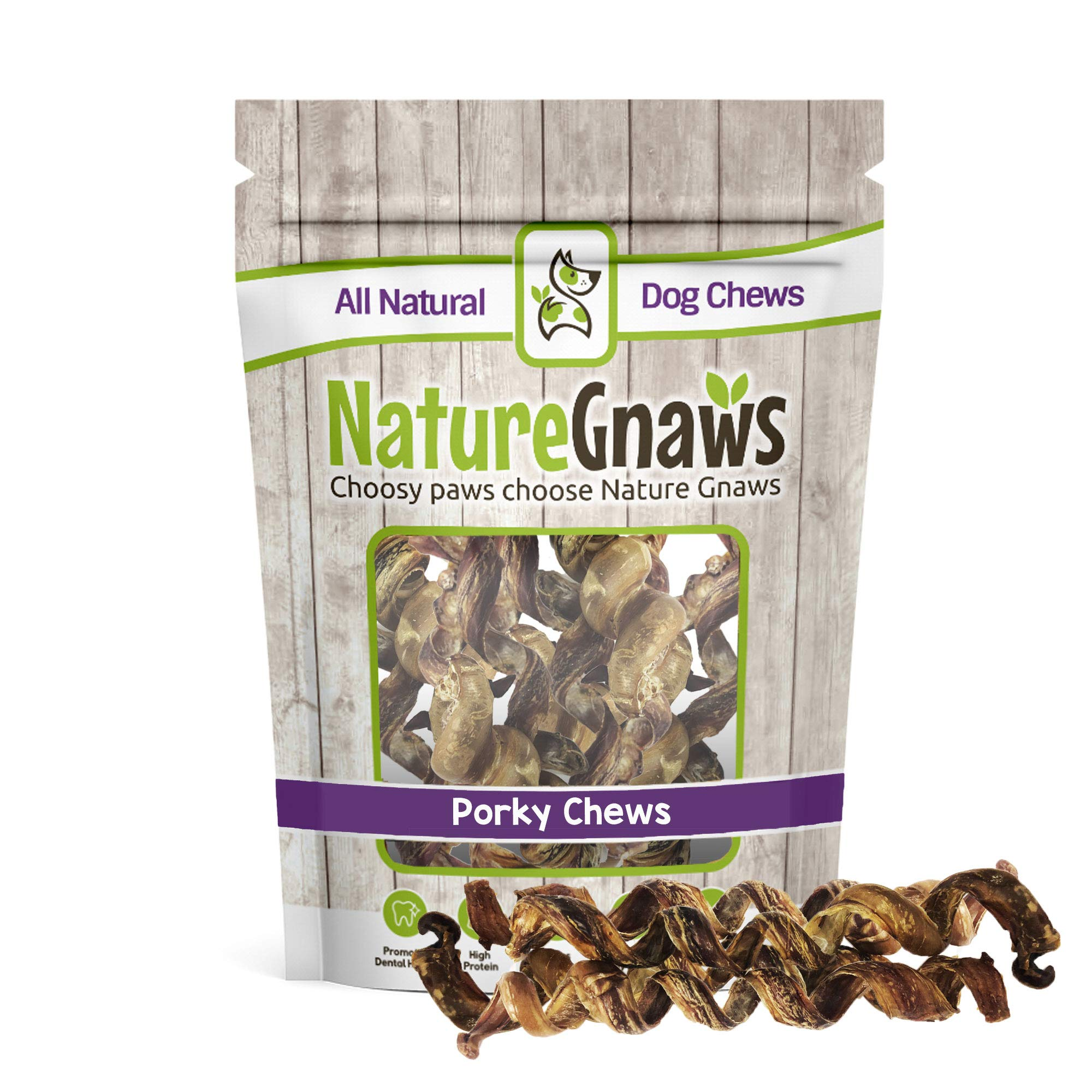 Nature Gnaws Porky Springs 7-8'' (12 Pack) - 100% All-Natural Premium Dog Chews