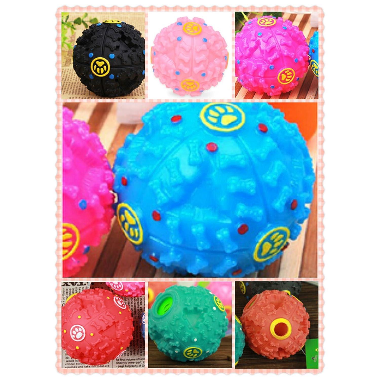 Balle Boule Sonore Distributeur Croquette Nourriture Jouet Boule de jouet pour Chien Animaux -couleur aleatoire--S size YUNI