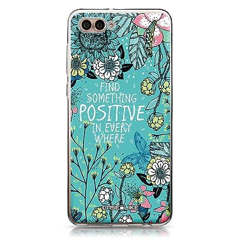 CASEiLIKE® Funda Huawei Nova 2S, Carcasa Huawei Nova 2S, Flores florecientes Turquesa 2249, TPU Gel Silicone Protectora Cover