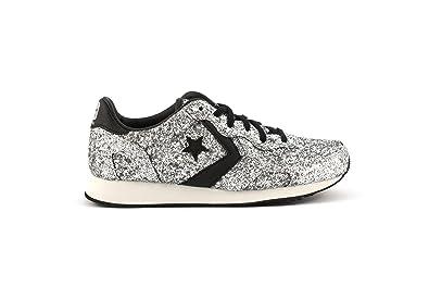 Converse Auckland Racer Ox Glitter, Damen Sneaker Silber Silber 36 ...