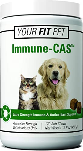 Your Fit Pet Immune-CAS Extra Strength Immune Antioxidant Support for Dogs and Cats – 120 Soft Chews