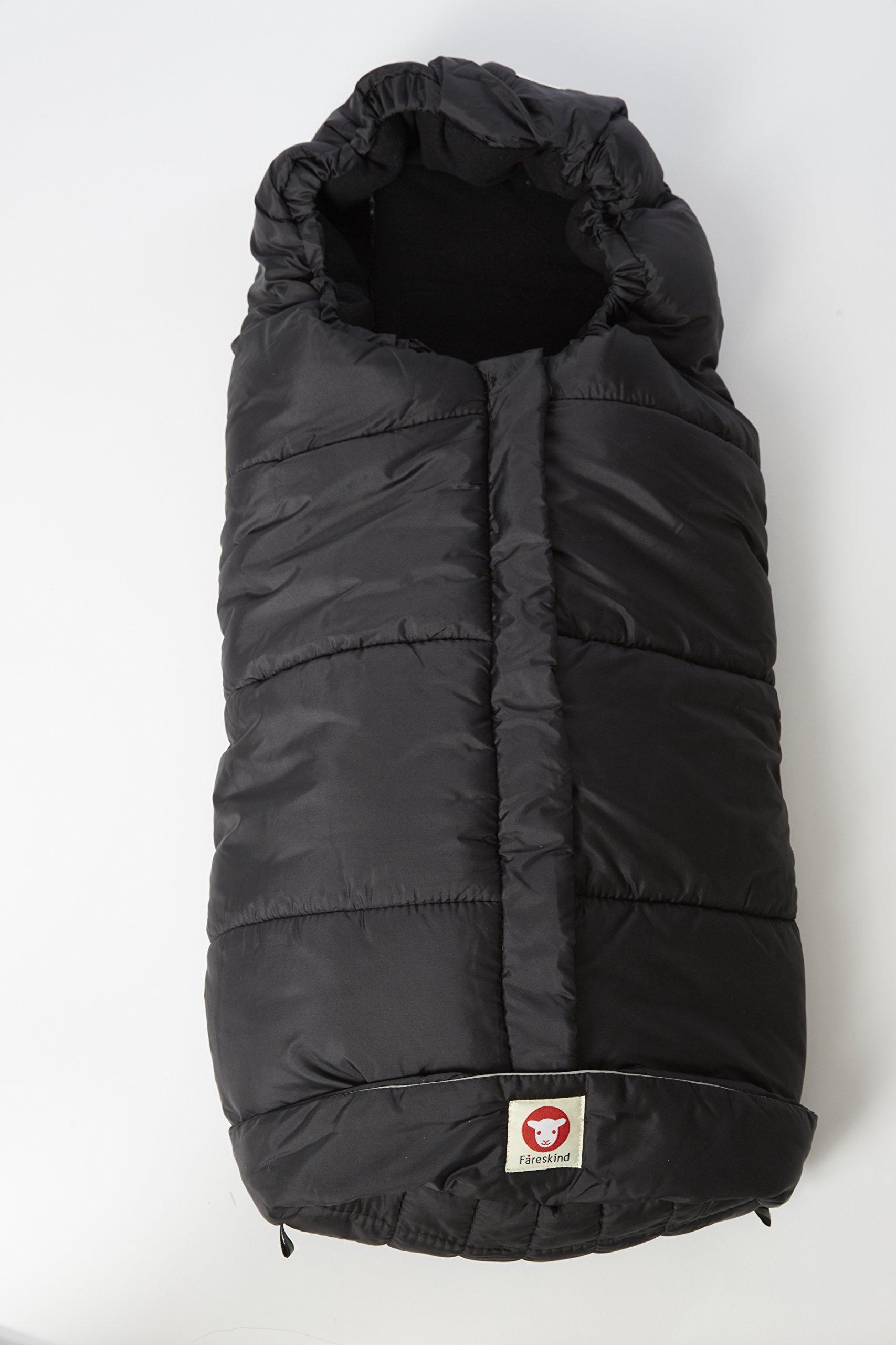 Fareskind Comfy Cruiser Bunting Bag, Black, 0-4 Years