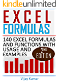 Excel Formulas: 140 Excel Formulas and Functions with usage and examples