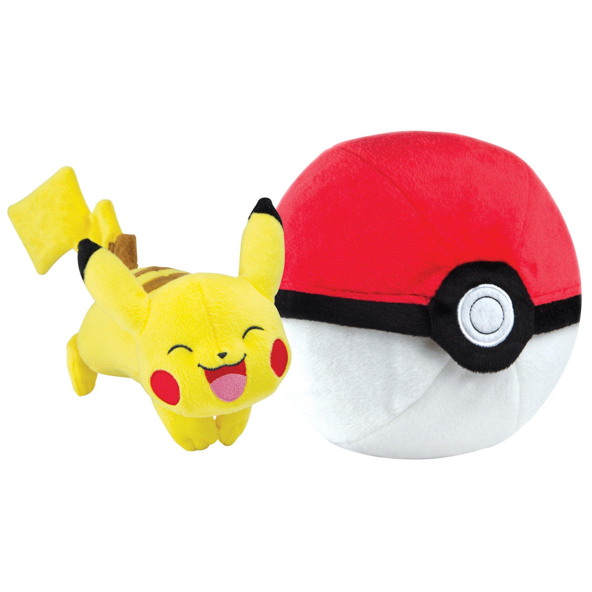 Pokémon Zipper Poké Ball Plush, Poké Ball And Pikachu by TOMY