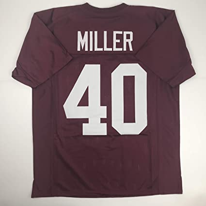 c72d9e15b Image Unavailable. Image not available for. Color  Unsigned Von Miller  Texas A M Maroon College Custom Stitched Football Jersey Size Men s ...