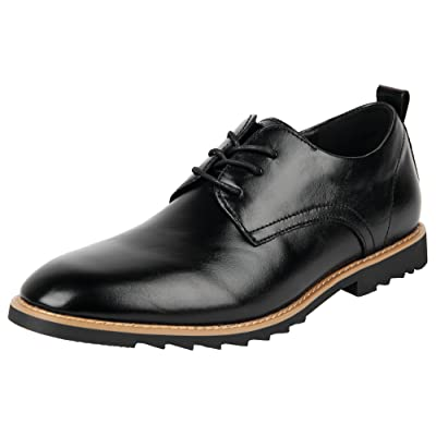 Amazon.com | 4How Men's Business Casual Plain Leather Oxfords Dress Shoes | Oxfords