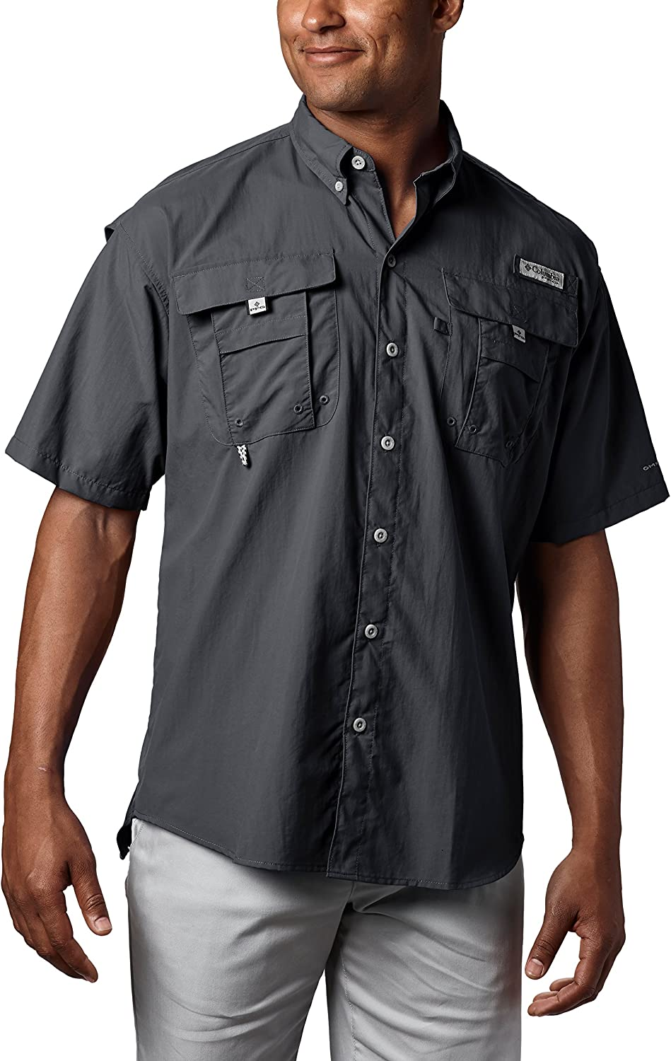 Columbia Mens PFG Bahama Ii Short Sleeve Shirt: Clothing