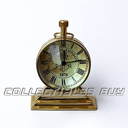 Collectibles Buy Nautical Desk Clock Brass Vintage Marine Anchor Watch Home  or Office Décor - Amazon.com: Collectibles Buy Nautical Desk Clock Brass Vintage