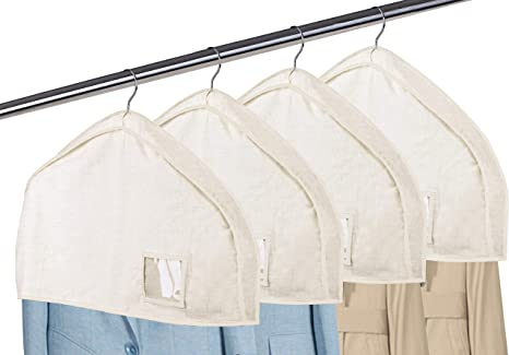 MISSLO 43 White Garment Covers and 43 Grey Garment Covers