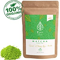 ORGANIC Japanese Matcha Green Tea Powder 100g - CEREMONIAL GRADE Matcha Green Tea Powder - Ideal for Matcha Latte, Smoothies, Baking, Ice Cream