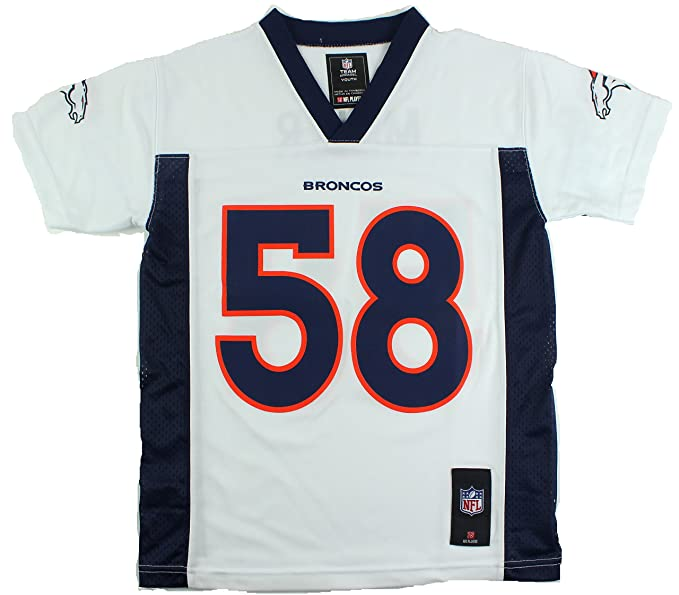 new concept e45bd 2ef65 Outerstuff Von Miller Denver Broncos #58 NFL Youth Mid-Tier Jersey White  (Youth Xlarge 18/20)
