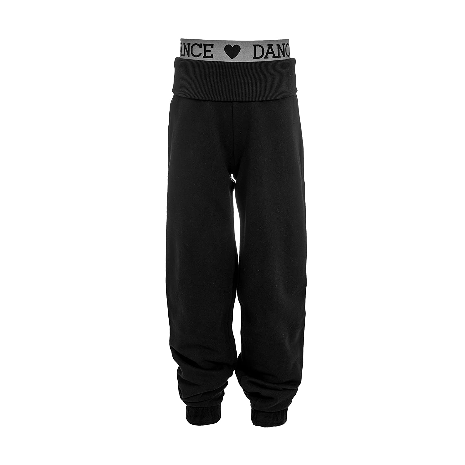 Brody & Co. Childrens Dance Joggers Girls Tracksuit Pants Jogging Bottoms Roll up Cuff Gym Games