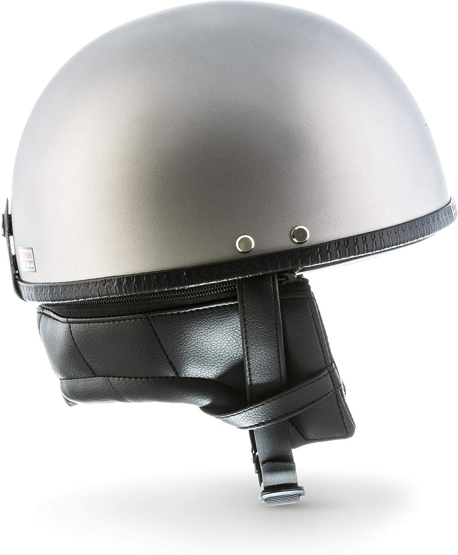 mobylette v/élo Moto Helmets D22-Mono/Braincap Casque demi-coque de moto de scooter Vespa chopper R/étro Vintage Avec housse en plastique casque Pilot Cruiser Scooter