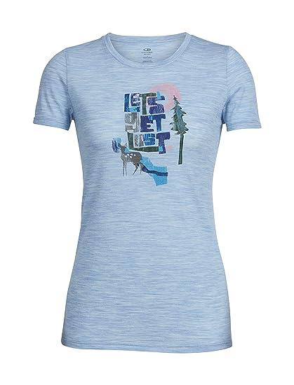 6692315b Amazon.com: Icebreaker Merino Women's Tech Lite Short Sleeve Crewe Tee  Let's Get Lost Graphic, Mist Blue Hthr, Medium: Clothing