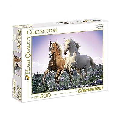 Clementoni Wild Horses Puzzle (500-Piece): Toys & Games