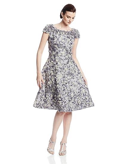 420adb64 Amazon.com: Fabiola Arias Women's Allover Petal Cocktail Dress with  Swarovski Crystals: Fabiola Arias: Clothing