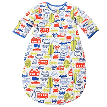 8814de0b7ea4 Baby Sleeping Bag Long Sleeves Winter 2.5-3.5Tog 100% Organic Cotton ...