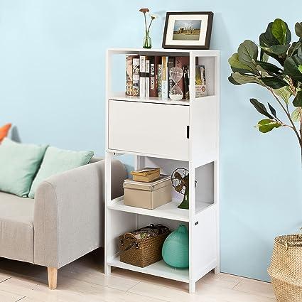SoBuy® scala libreria, scaffale angolo , Mobiletto da soggiorno o ...