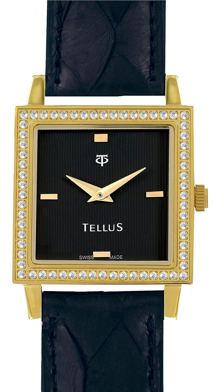 Schwarz Armbanduhr Vintage Damen Armband Tellus Ziffernblatt F3K1culJ5T