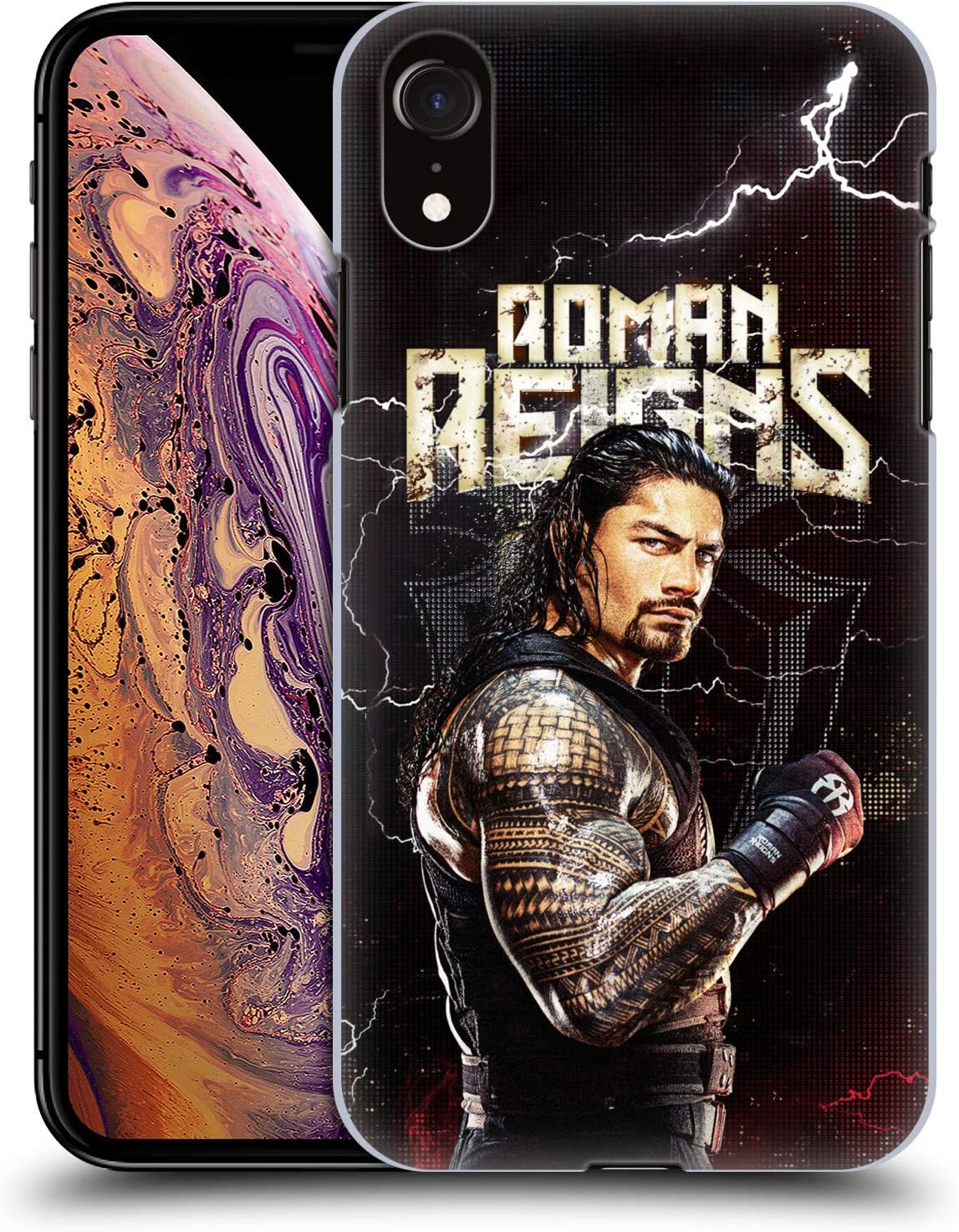 Head Case Designs Officially Licensed WWE Roman Reigns Superstars Hard Back Case Compatible with Apple iPhone XR