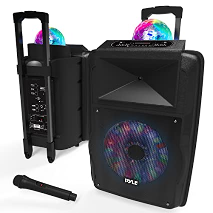 Amazon.com: Altavoz portátil DJ Karaoke PA – al aire libre ...